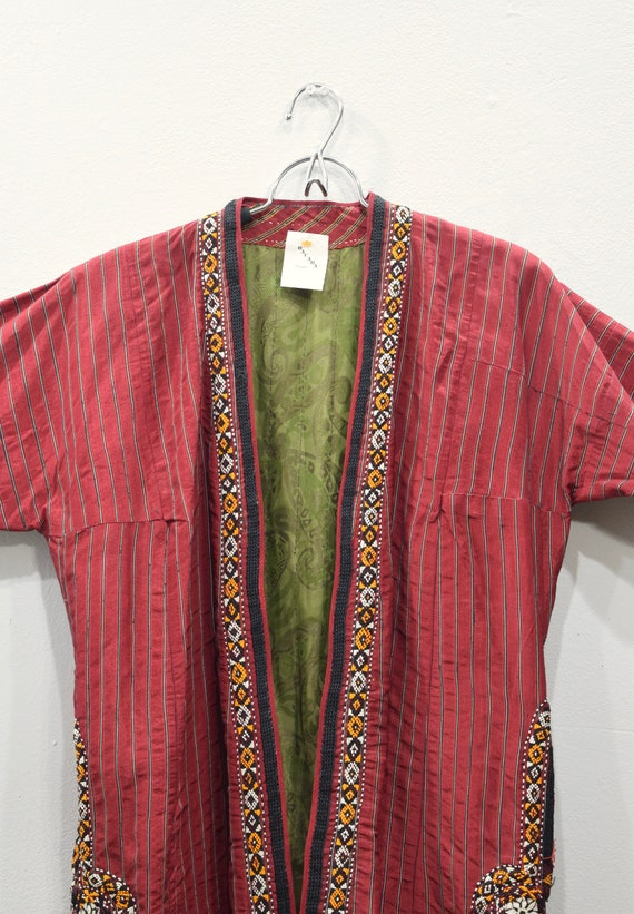 Coat Red Turkmen Chapan