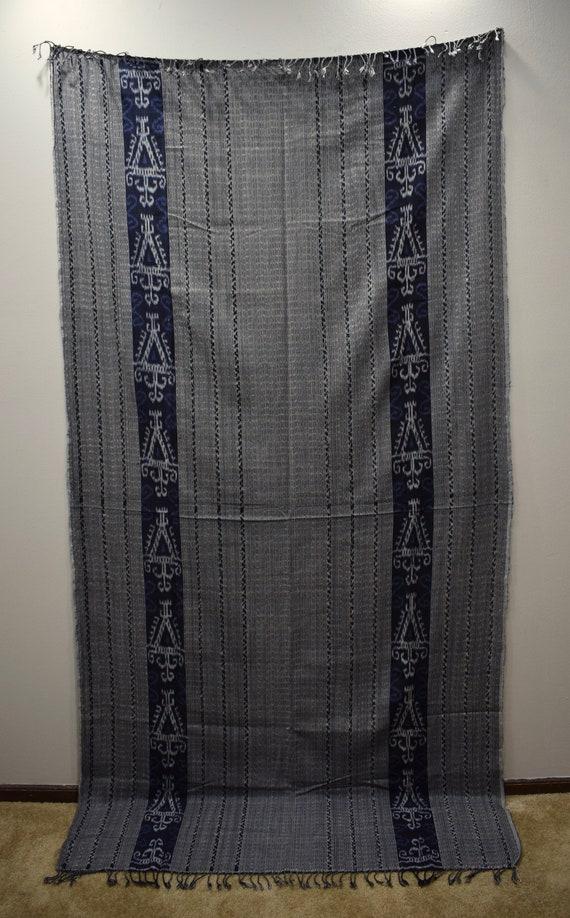 Java Blanket Indigo Blue Handmade Design Ceremonial Indigo Cloth