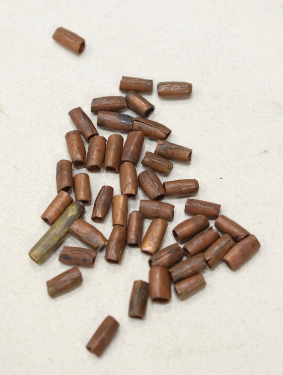 Beads African Copper Tube Beads 8-10mm