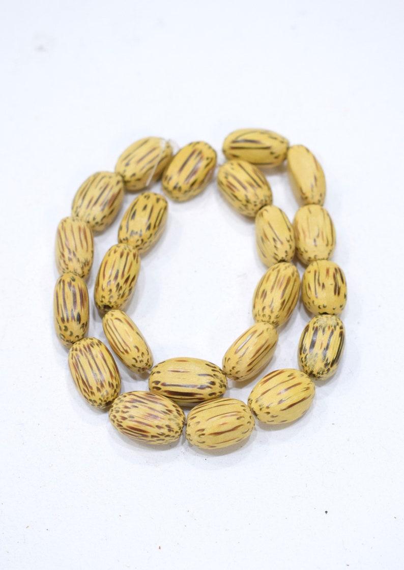 Beads Philippines Yellow Palmwood 20mm