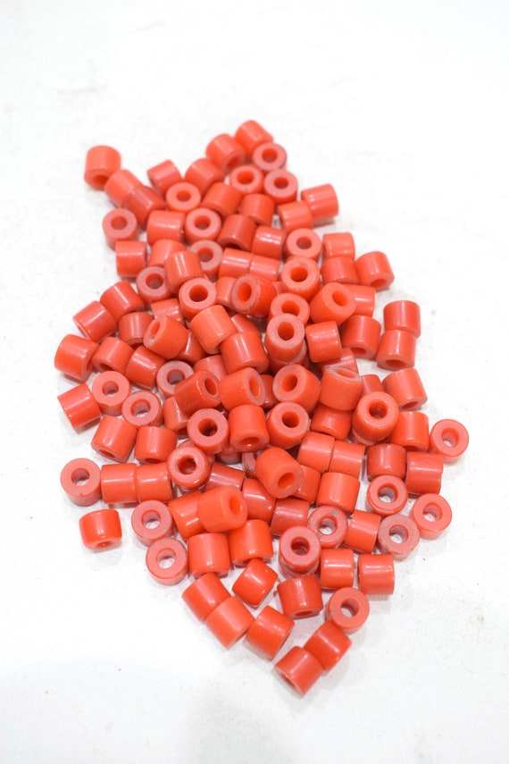 Beads African Red Small Turquoise Pony Beads 7-8mm