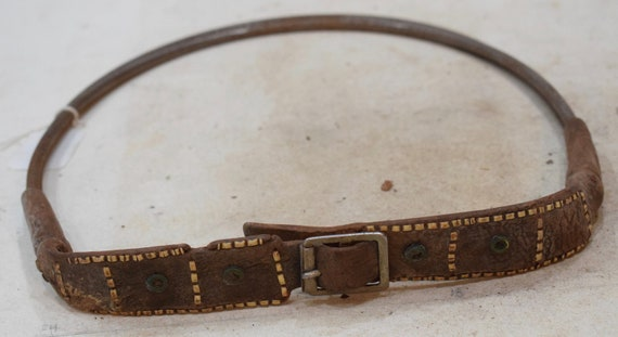African Belt Leather Stitched Pattern Himba Tribe Traditional Belt