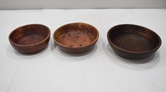 Bowl 3 Wood Bowl Set from Thailand