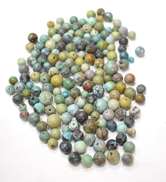 Beads Chinese Turquoise Mixed Bag Round Beads 6mm - 12mm