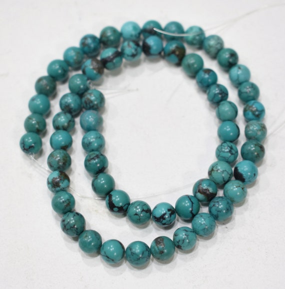 Beads Chinese Turquoise Round Beads 6mm