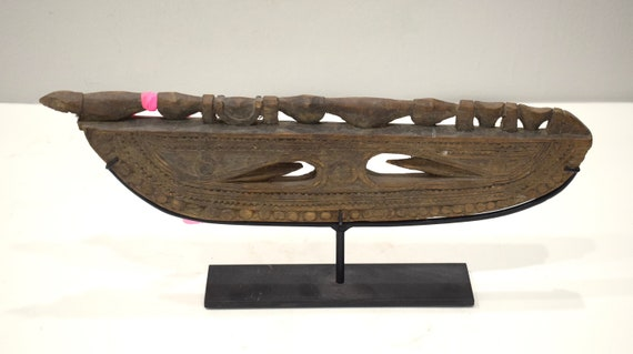 Papua New Guinea Paddle Top April River Canoe Paddle Top