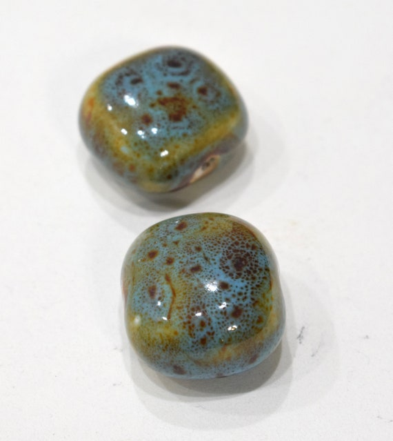 Beads Porcelain Turquoise Oval Beads 26mm