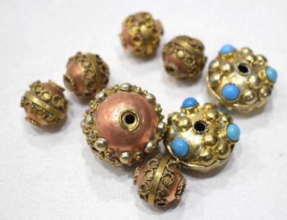 Beads India Mixed Bag Copper Brass Beads 18-27mm