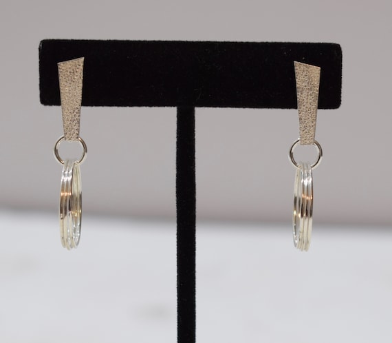 Earrings Sterling Silver Hoop Ring Post Earrings 42mm