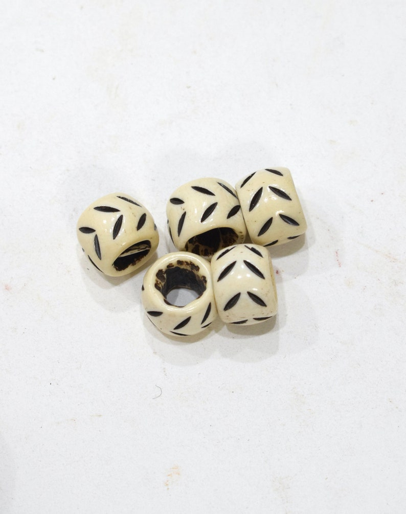 Beads Indonesian Carved Bone  Rings