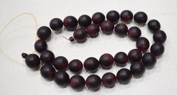 Beads India Dark Red Buri Nut Beads 11-12mm