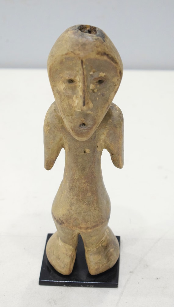 African Lega Figurative Wood Sculpture Lega 9 3/4""