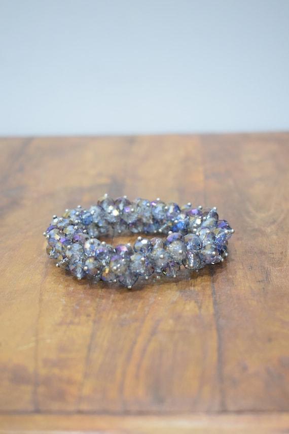 Bracelet Aurorea Borealis Faceted Crystal Stretch Bracelet