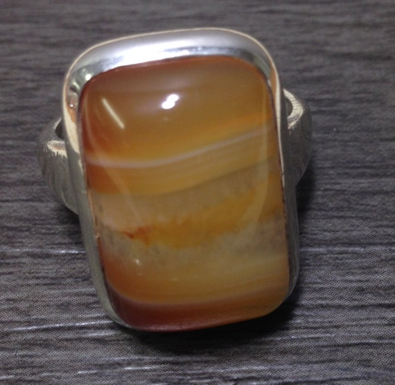 Sterling Silver Tangerine Quartz Ring