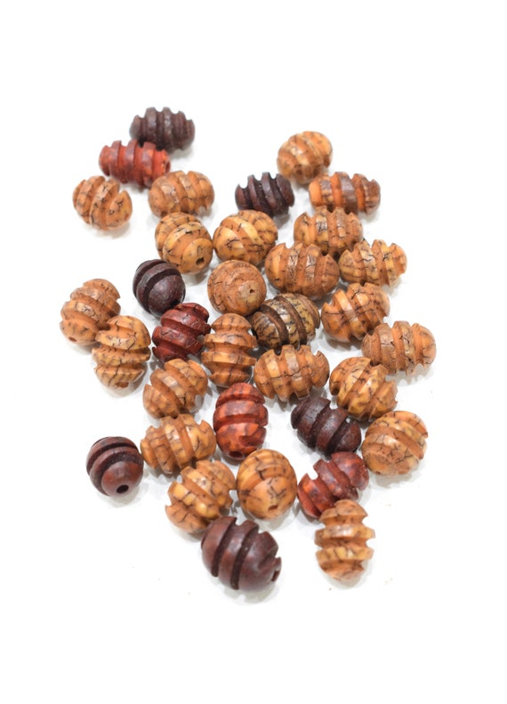 Beads Philippines Grooved Betel Nut Beads 15-17mm