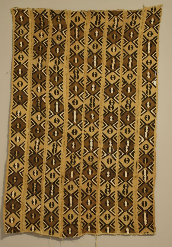 African Mudcloth Brown Black White Patten Dogon Cloth Fabric Brown Mudcloth 67""