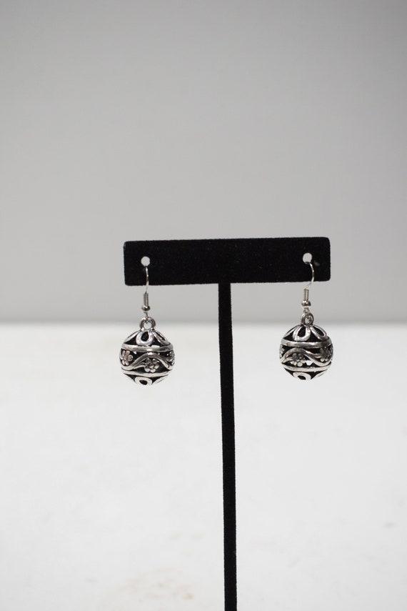 Earrings Silver Ball Dangle Earrings