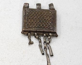 Beads Silver Ethiopian Telsum Box Pendants 30mm - 42mm