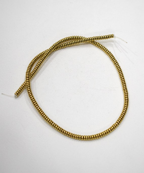 Beads Gold Flat Disc Beads 4-5mm