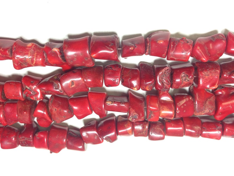 Beads Red Bamboo Coral Dyed Strand 1615 to 20mm China Handmade Handcrafted Jewelry Necklaces Bracelets Earrings Unique #017