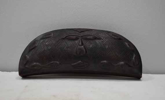 African Box Kuba Carved Powder Box Congo