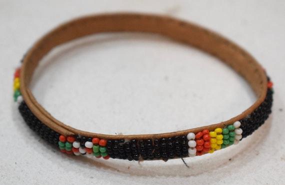 African Bracelets Beaded Colorful Bangles Mali
