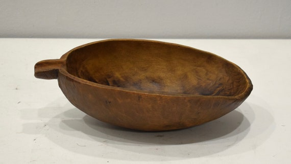African Bowl Pokot Food Wood Round Bowl Kenya