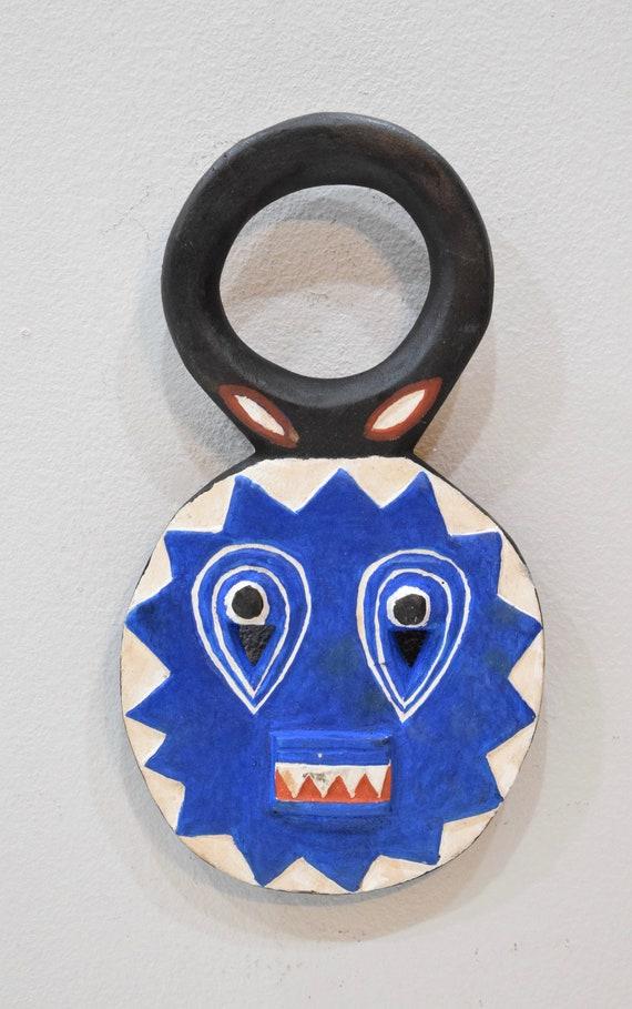 """African Mask Baule Goli Wood Cote'd Ivorie Mask 11 3/4"""""""