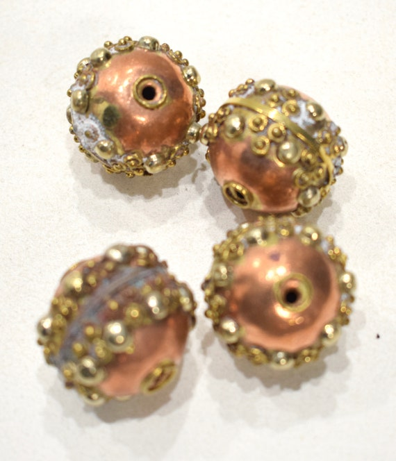 Beads India Brass Copper Ornate Beads 26mm