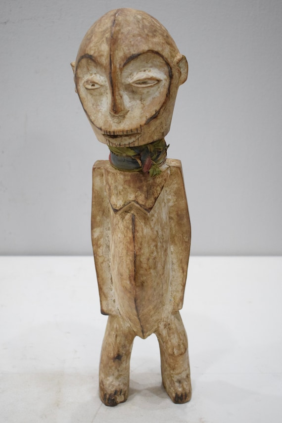 African Lega Figurative Wood Sculpture Lega DRC 18""