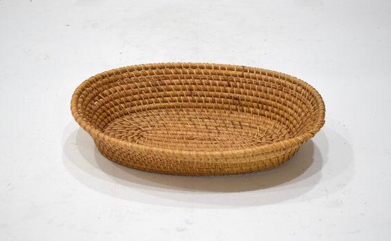 Basket Indonesian Oval Rattan Basket