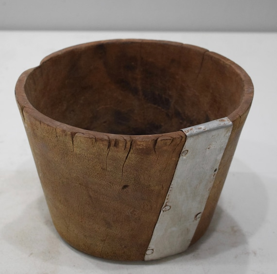 African Bowl Giriami Weathered Food Bowl Kenya Bowl 6""
