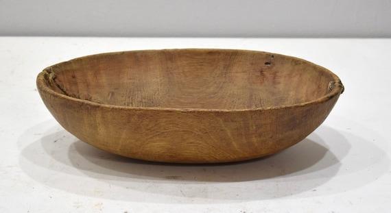 African Bowl Pokot Food Wood Round Bowl Kenya