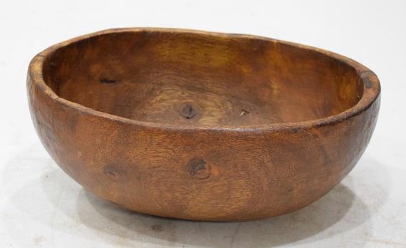 """African Bowl Pokot Food Wood Round Bowl Kenya 4 1/4"""""""