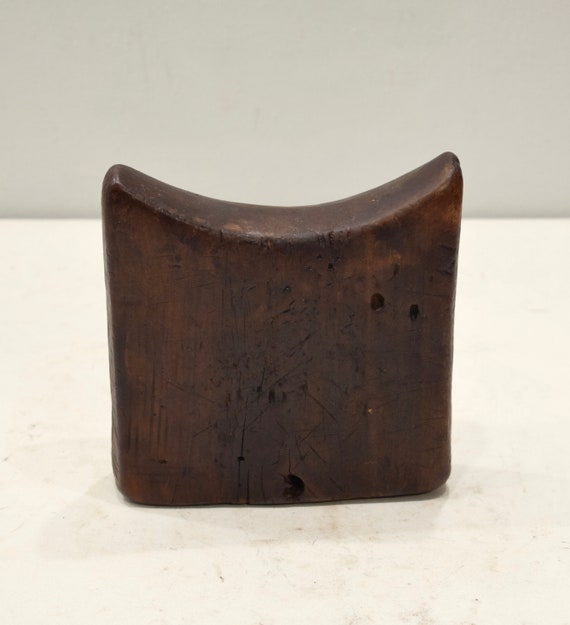 African Headrest Ethiopian Gurage Mens Wood Headrest
