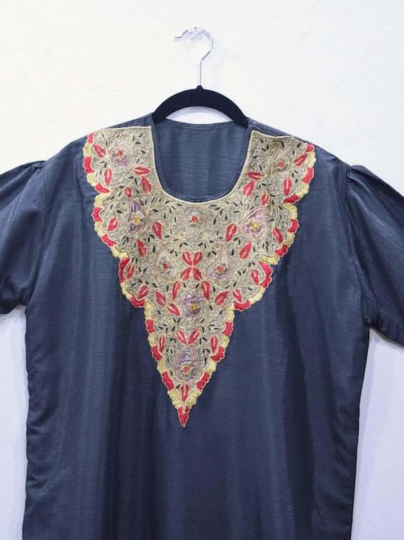 Dress Black Beaded Rayon India Dress
