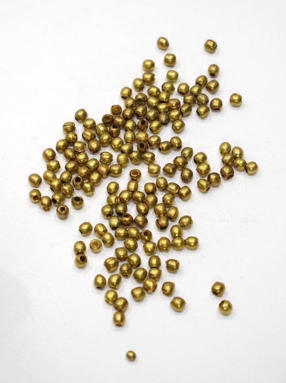 Beads India Brass Round Beads 5mm
