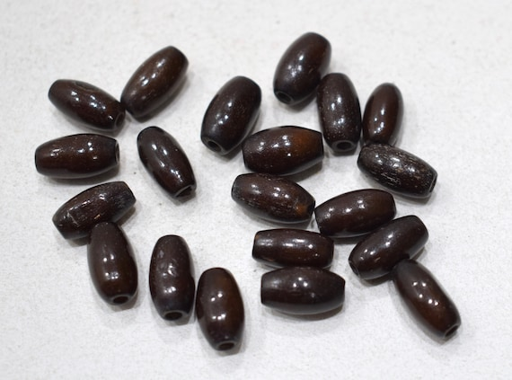 Beads Philippines Dark Brown Horn Tubes 12-14mm