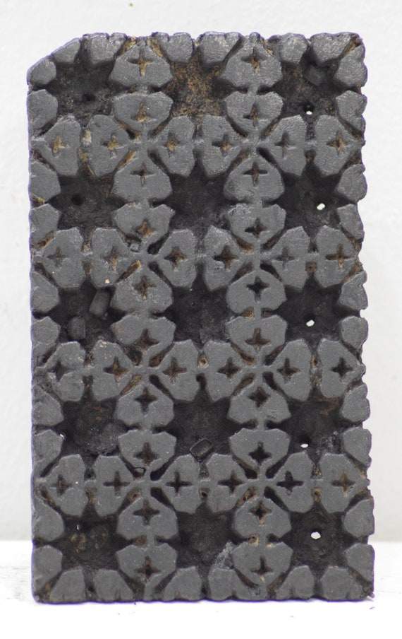 Indian Hand Carved Textile Printing Blocks Wooden Fabric Stamps 2035