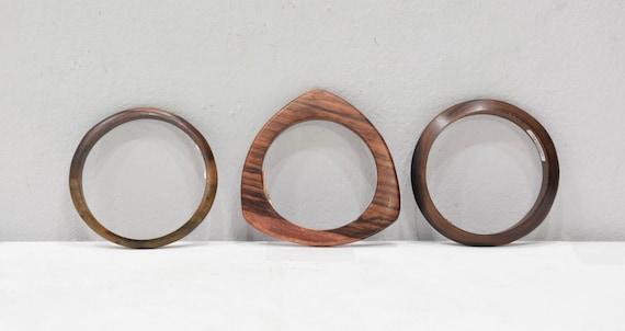 Bracelet Assorted Indonesian Wood Round Bangles