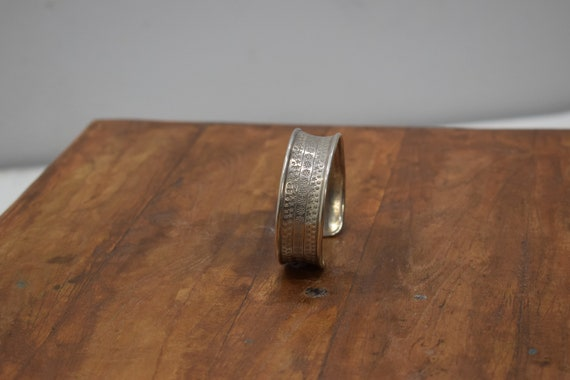 Bracelet Silver Stamped Cuff  Miao Hill Tribe