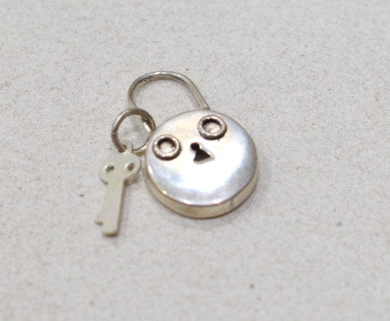 Beads Sterling Silver Lock and Key Charm 23mm