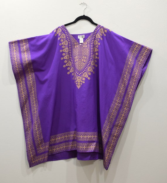 Shirt Purple Gold Dashiki