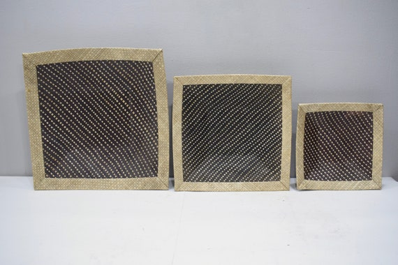 Baskets Indonesian Brown/White Stacking Trays