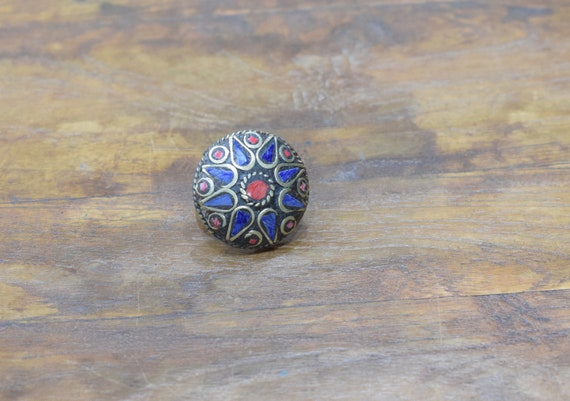 Rings India Brass Inlay Round Ring