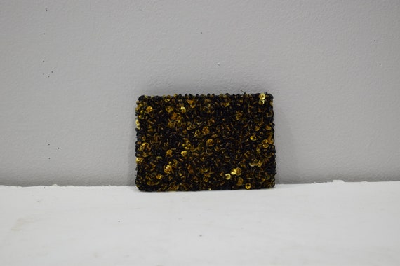 Purse Beaded Bronze Sequined Clutch Purse