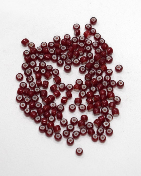 Beads African Red White Heart Glass Beads 5mm
