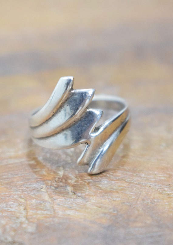 Ring Sterling Silver Leaf Wrap Ring