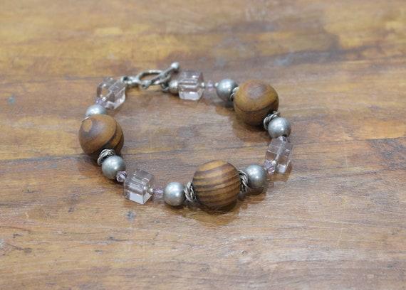 Bracelet Olive Wood Silver Bracelet