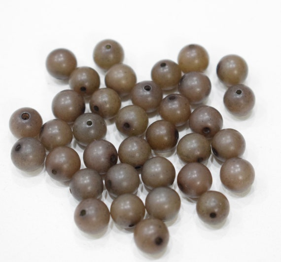 Beads Philippine Buri Nut Brown Round 8mm